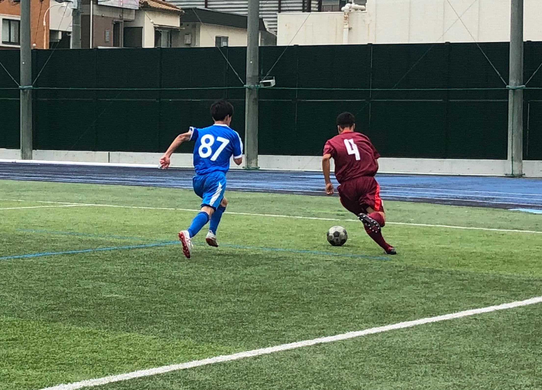 TM 1年生vs草津東 ●0-1